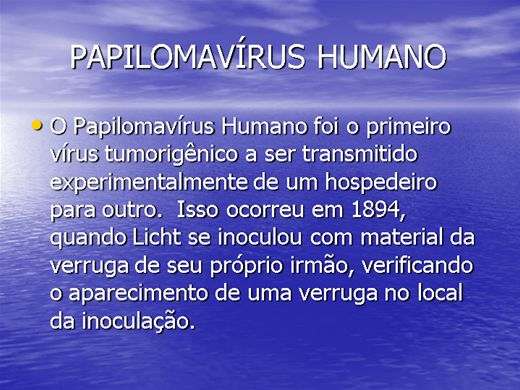 Curso Online de PAPILOMAVÍRUS HUMANO