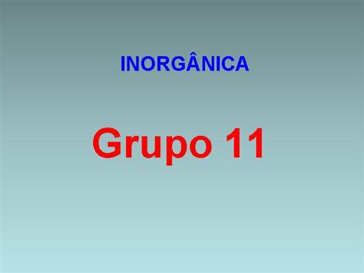 Curso Online de Inorgânica - Grupo 11