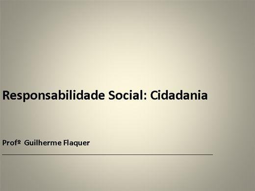 Curso Online de RESPONSABILIDADE SOCIAL:CIDADANIA