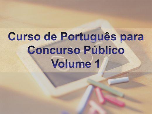 Curso Online de Português Para Concursos - Volume 1