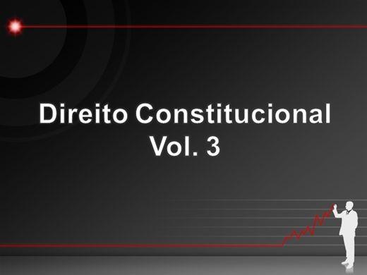 Curso Online de Curso de Direito Constitucional Vol 3 para Concursos