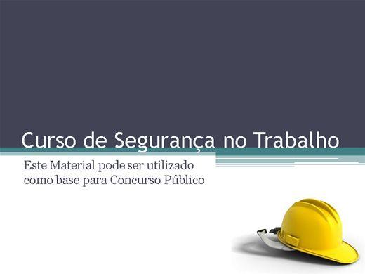 Curso Online de Segurança do Trabalho e a Lei