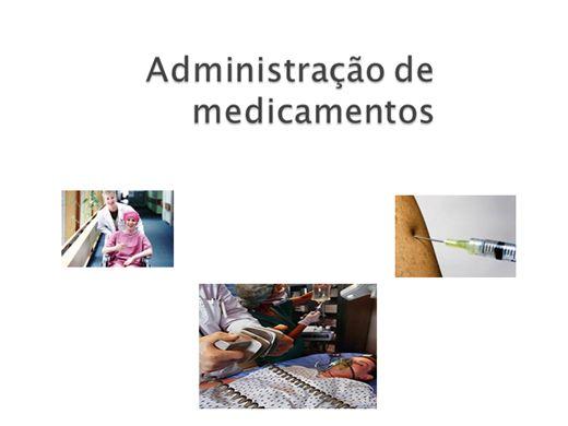 Curso Online de Administração de Medicamentos