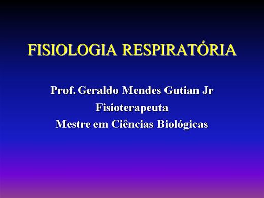 Curso Online de Fisiologia Respiratória