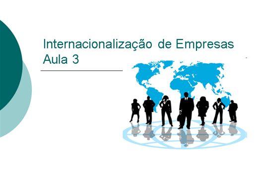 Curso Online de Internacionalização de Empresas - Aula 3