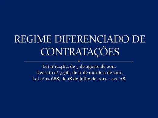 Curso Online de Regime Diferenciado de Contratações