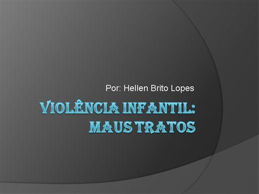 Curso Online de Violência Infantil: Maus tratos
