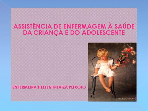 Curso Online de ASSISTÊNCIA DE ENFERMAGEM À SAÚDE DA CRIANÇA E DO ADOLESCENTE