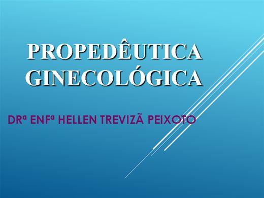 Curso Online de PROPEDÊUTICA GINECOLÓGICA