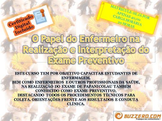 Curso Online de O Papel do Enfermeiro na  Realização e Interpretação do Exame Preventivo