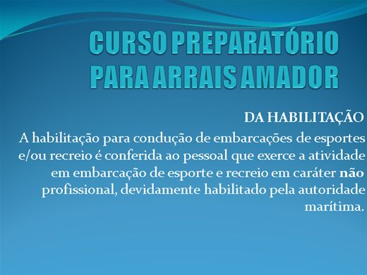 Curso Online de Preparatório para Arrais Amador