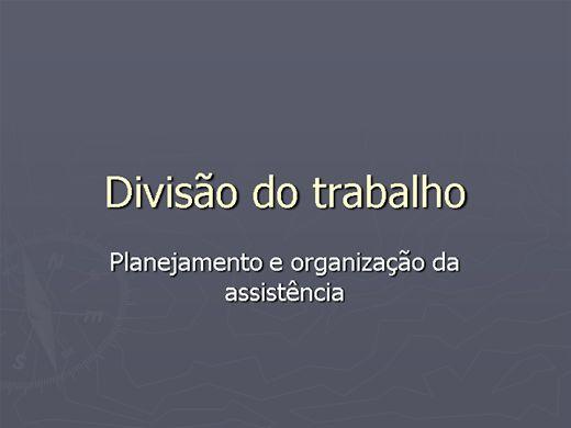 Curso Online de DIVISÃO DE TRABALHO EM ENFERMAGEM com videoaula