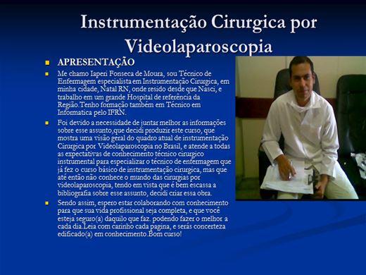 Curso Online de Instrumentação Cirurgica geral por video Laparoscopia