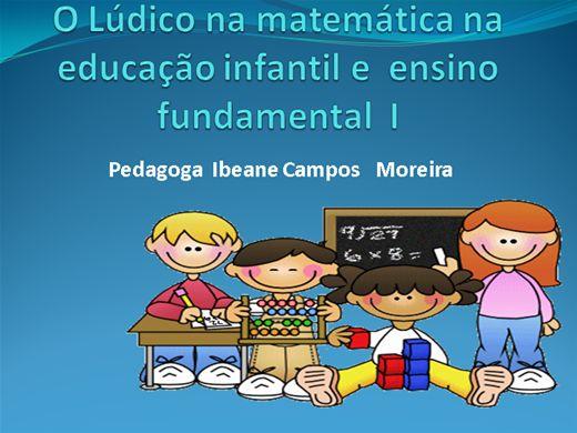 Curso Online de O Lúdico na matemática na educação infantil e  ensino fundamental  I
