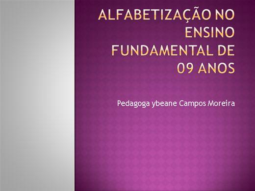 Curso Online de Alfabetização no Ensino Fundamental de 09 Anos