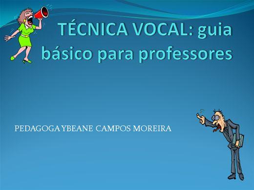 Curso Online de TÉCNICA VOCAL: guia básico para professores