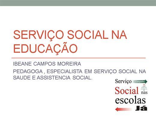 Curso Online de Serviço Social na Educação