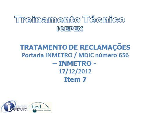 Curso Online de ICEPEX - TRATAMENTO DE RECLAMAÇÕES -COMPONENTES DE BICICLETA DE USO ADULTO