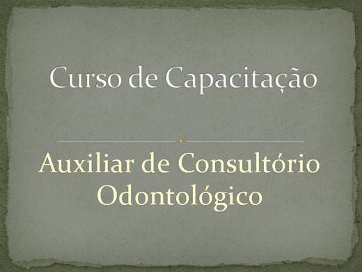Curso Online de Auxiliar de Consultório Odontológico