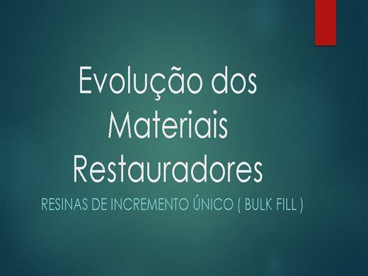 Curso Online de Evolução dos Materiais Restauradores - Dentística
