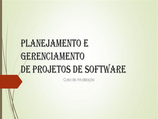 Curso Online de Planejamento e Gerenciamento de Projetos de Software