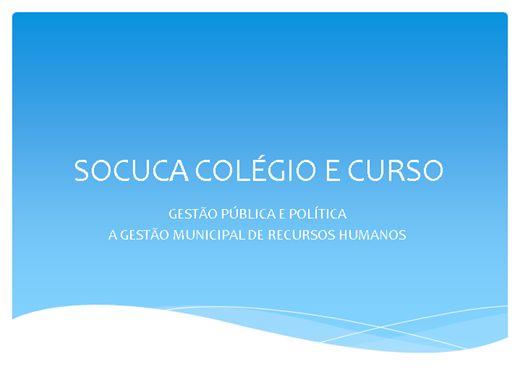 Curso Online de  GESTÃO MUNICIPAL DE RECURSOS HUMANOS - AS PESSOAS JURÍDICAS
