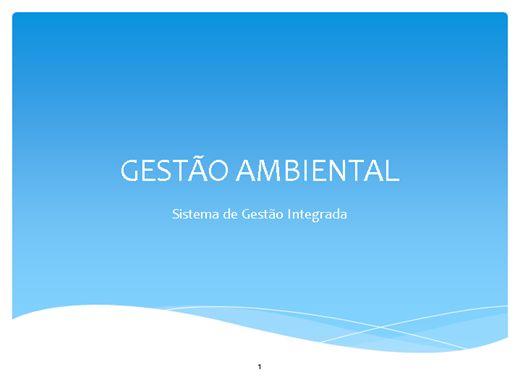 Curso Online de GESTÃO AMBIENTAL:Sistema de Gestão Integrada de QSMS