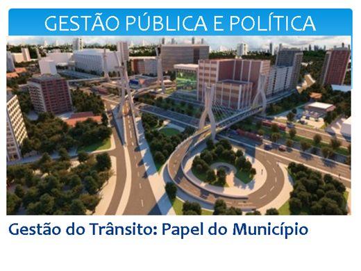 Curso Online de GESTÃO PÚBLICA E POLÍTICA - GESTÃO MUNICIPAL DE TRÂNSITO