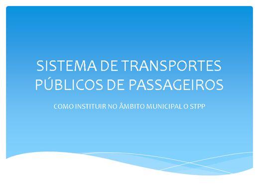 Curso Online de SISTEMA DE TRANSPORTES PÚBLICO MUNICIPAL