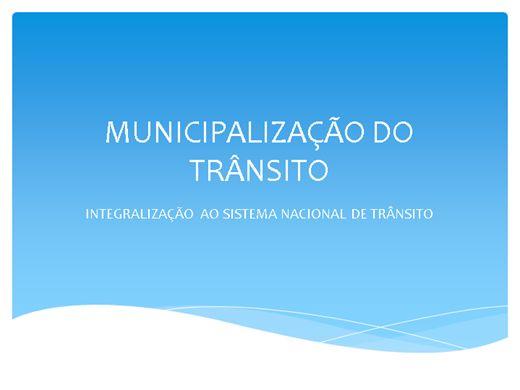 Curso Online de INTEGRALIZAÇÃO  AO SISTEMA NACIONAL DE TRÂNSITO
