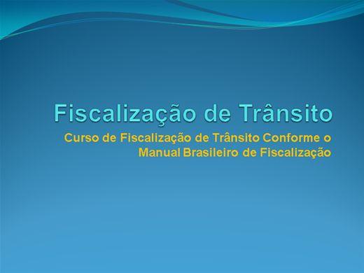 Curso Online de Fiscalização de Trânsito