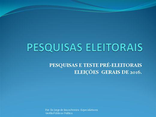 Curso Online de Pesquisas Eleitorais