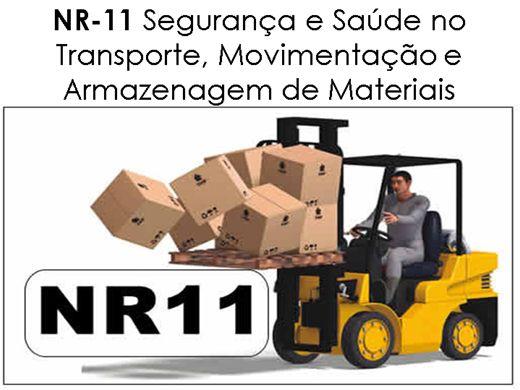 Curso Online de NR 11- Capacitação na Segurança e Saúde no Transporte, Movimentação e Armazenagem de Materiais
