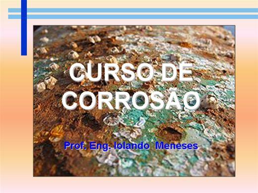 Curso Online de CURSO DE CORROSÃO
