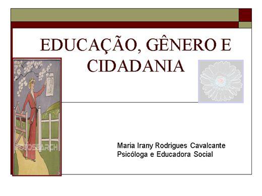 Curso Online de Educação, Gênero e Cidadania