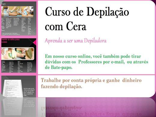 Curso Online de Depilação com cera