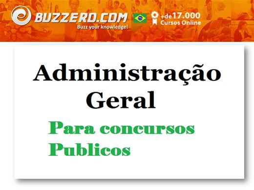 Curso Online de Administração Geral Para Concursos públicos