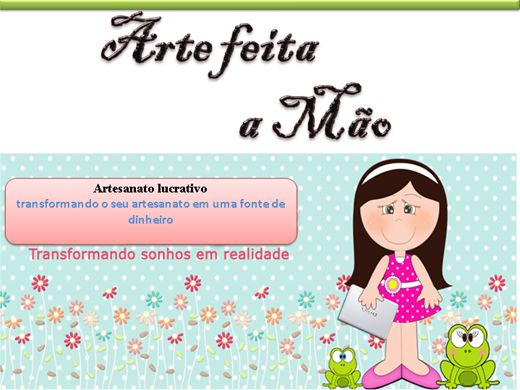 Curso Online de Artesanato  lucrativo Nivél 01