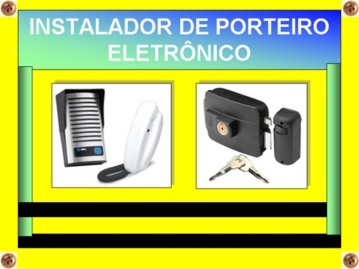 Curso Online de INSTALADOR DE PORTEIRO ELETRÔNICO