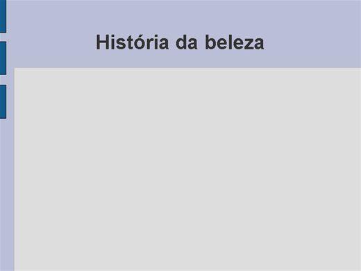 Curso Online de historia da beleza