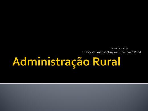 Curso Online de Administração Rural