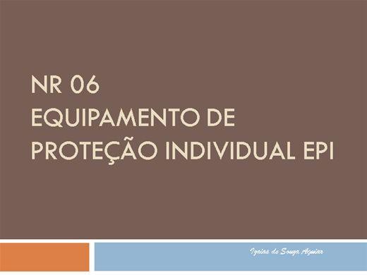 a5a3898d6e9af Curso Online de NR 06 - EQUIPAMENTOS DE PROTEÇÃO INDIVIDUAL - EPI ...