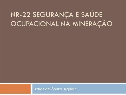 Curso Online de NR 22 SAÚDE E SEGURANÇA NA MINERAÇÃO