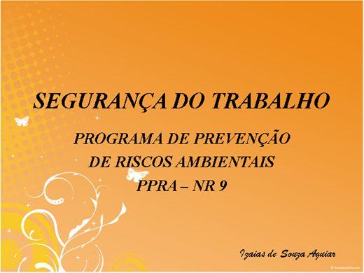 Curso Online de NR 09 PROGRAMA DE PREVENÇÃO DE RISCOS AMBIENTAIS
