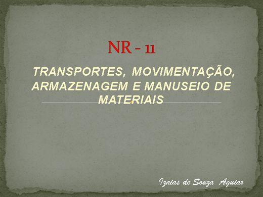 Curso Online de NR 11 TRANSPORTE, MOVIMENTAÇÃO DE CARGAS
