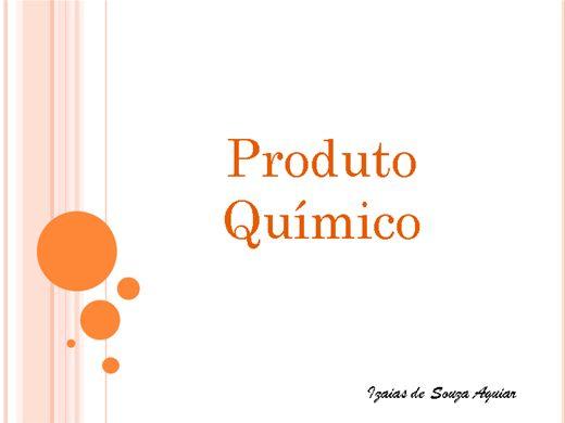 Curso Online de PRODUTOS QUÍMICOS - CONHECIMENTOS BÁSICOS