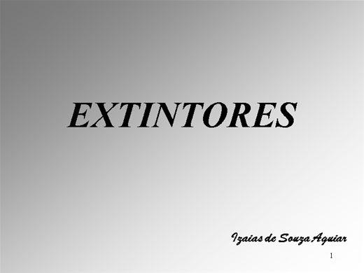 Curso Online de EXTINTORES DE INCÊNDIO