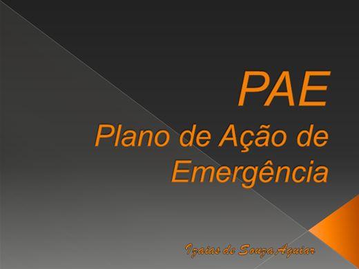 Curso Online de PAE - PLANO DE AÇÃO DE EMERGÊNCIA