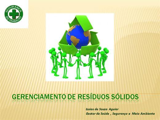 Curso Online de GERENCIAMENTO DE RESÍDUOS SOLIDOS