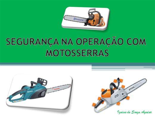 Curso Online de SEGURANÇA NA OPERAÇÃO COM MOTOSSERRAS